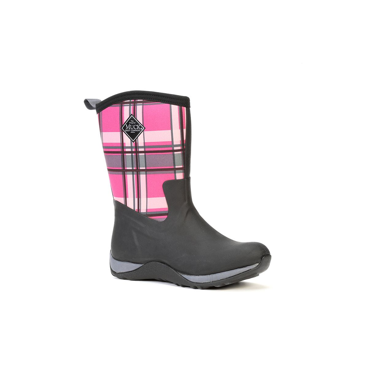 933a129ff0db5 Muck Boots Company Women's ARCTIC WEEKEND BLACK-PINK PLAID, Neoprene ...