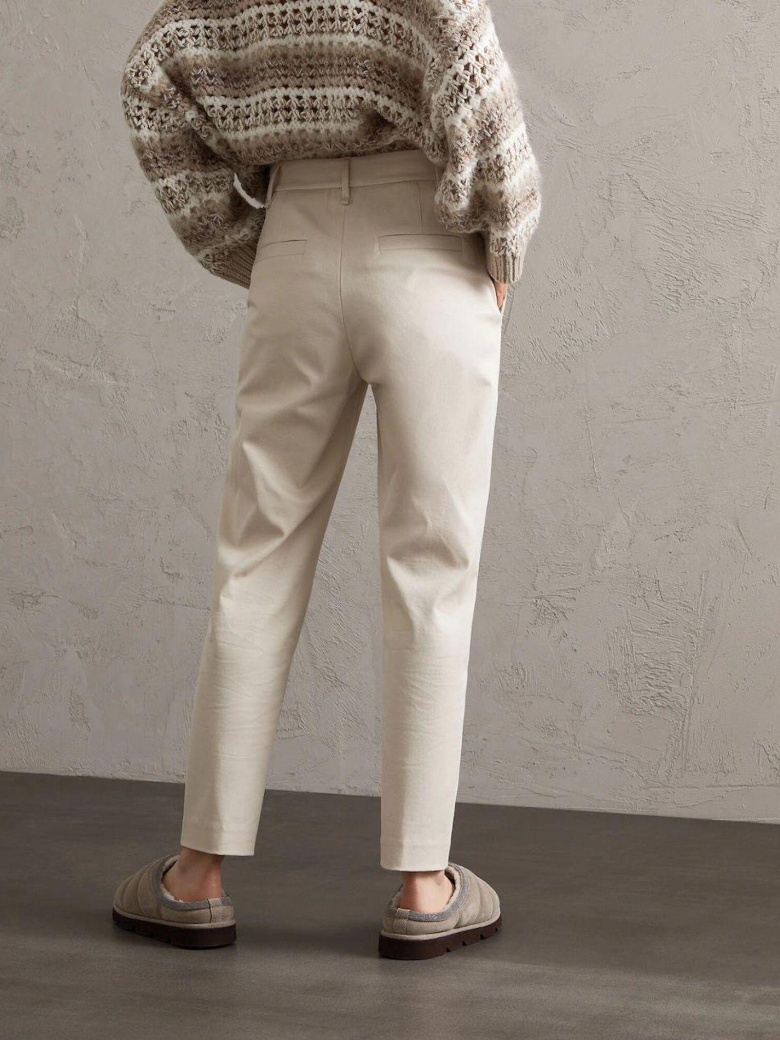 PANTALONE CHINO IN COTONE BRUNELLO CUCINELLI | Pantalone | MB019P7666C7365