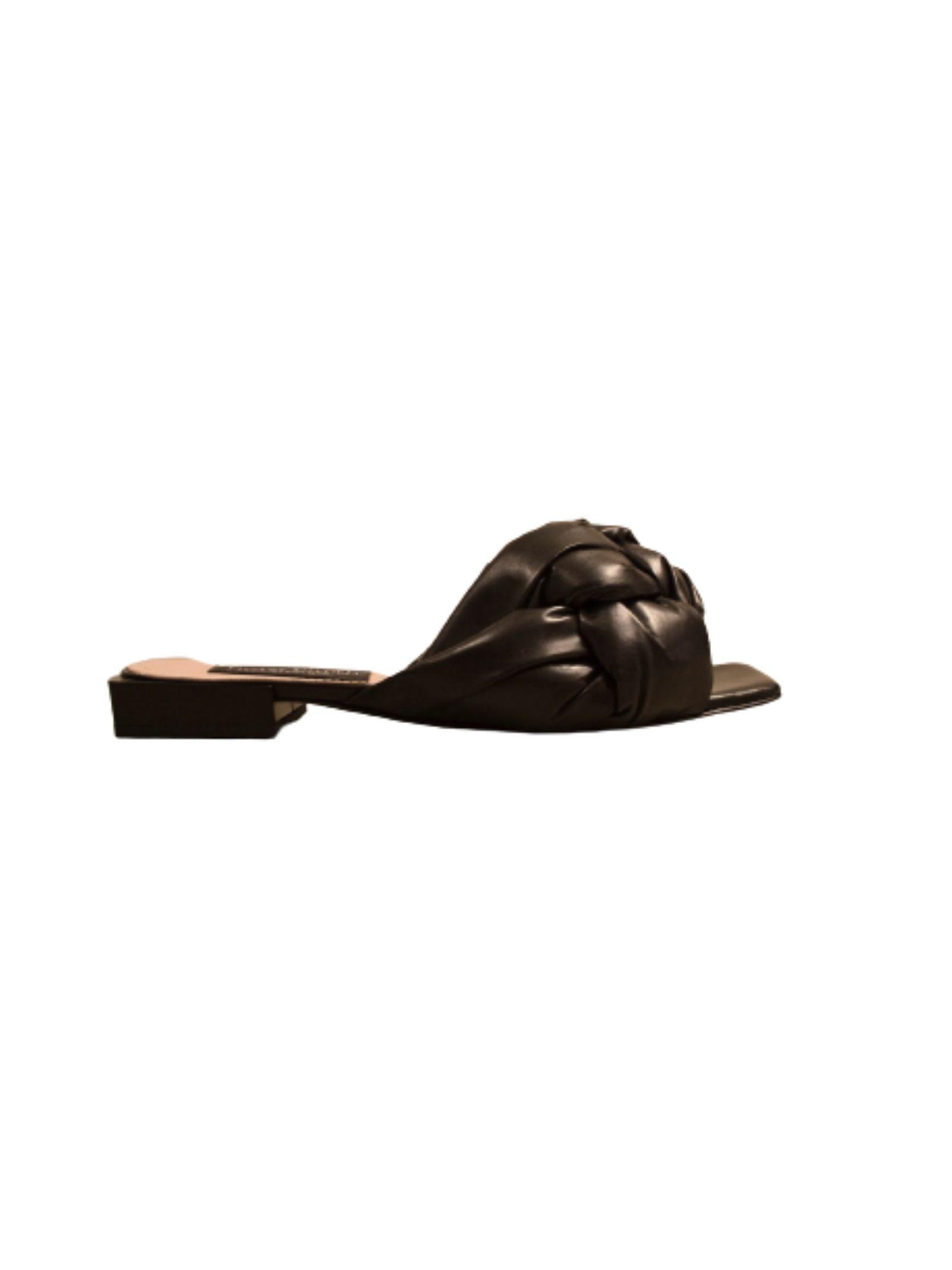 SANDALO IN PELLE INTRECCIATA NORA BARTH   Scarpe   S90930099