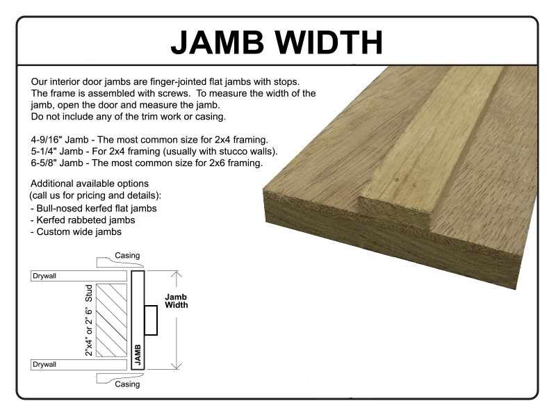 Standard Size Of Wooden Door Frame : Go Back > Gallery For > Interior Wood Door Jamb Detail