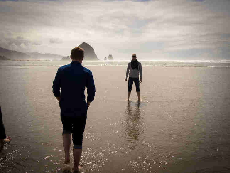 Alien landed at Haystack Rock