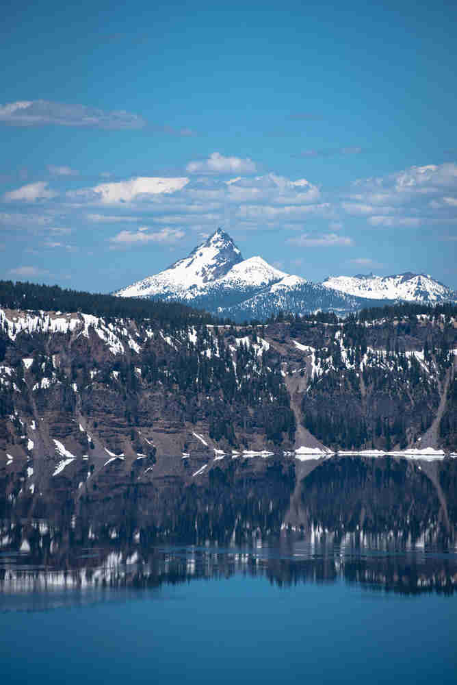 Mountain with reflection in Crater Lake National Park
