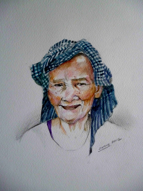 old cambodian's lady