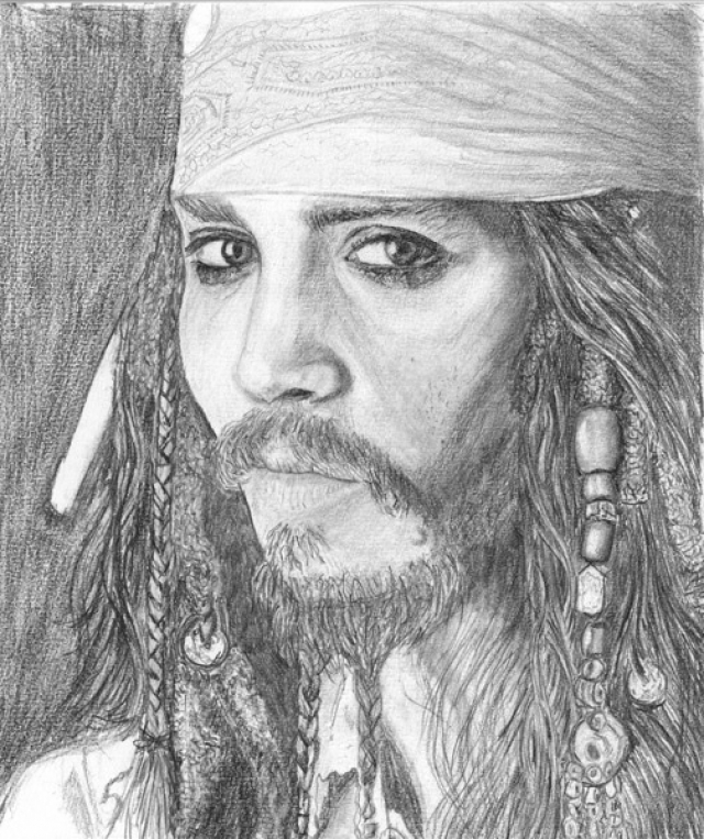 Johnny Deppe, as Jack Sparrow
