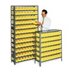 Bin Shelving, Solid, 36X12, 48 Bins, Yellow