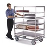 Banquet Cart, Stainless, 5 Shelves, 46x28