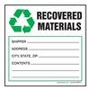 Hazardous Waste Label, 6 In. W, PK 250