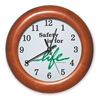 Wall Clock, 12 In, Safety is for Life