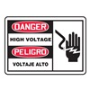 Danger Sign, 7 x 10In, R and BK/WHT, PLSTC