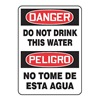 Danger Sign, 14 x 10In, R and BK/WHT, AL
