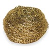 Scrubber, Gold, 3In L, 3In W, PK6