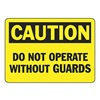 Caution Sign, 10 x 14In, BK/YEL, AL, ENG