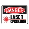 Danger Radiation Sign, 10 x 14In, ENG, SURF