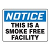 Notice No Smoking Sign, 10 x 14In, AL, ENG