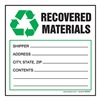 Hazardous Waste Label, 6 In. W, PK 250