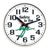 Wall Clock, Safety is for Life, 12 in.