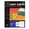 Laser Label, 2x4In, PK 25, White
