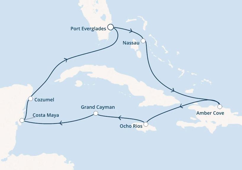 January Caribbean Cruise Itinerary
