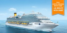 7-Nt W. Mediterranean Cruise on Costa Diadema