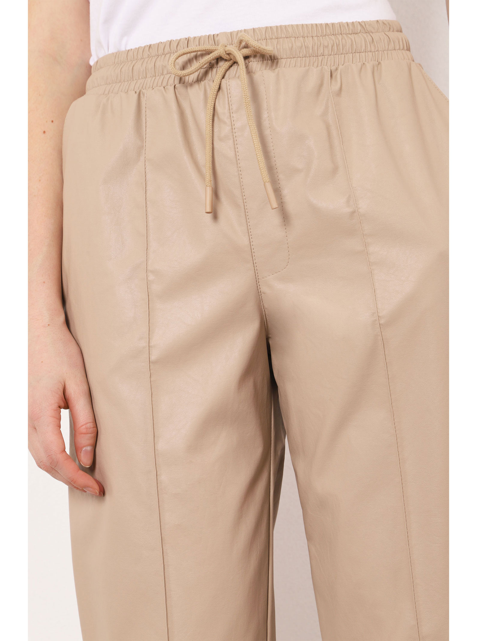 PANTALONI IN SIMILPELLE CON COULISSE IMPERIAL imperial | Pantalone | P2F8BBNCUOIO