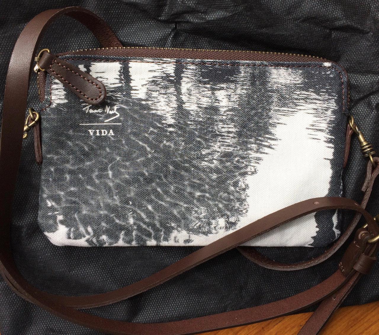 Charcoal - designer clutch bag