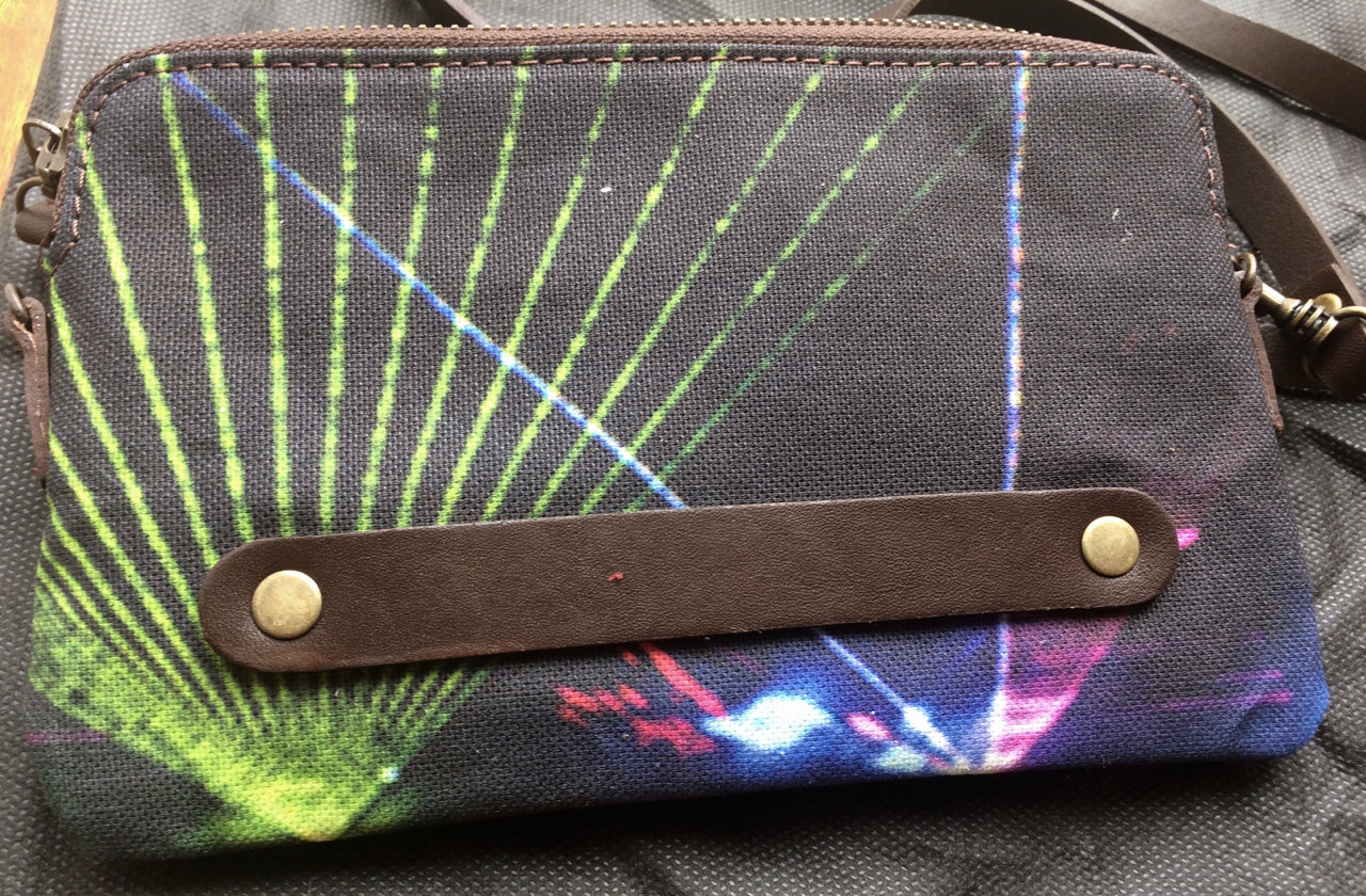 Disco Tech - clutch bag back