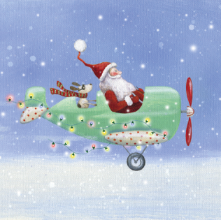 Flying Santa – pack of ten 00005