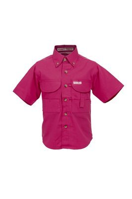 Tiger Hill Childrens Pink Fishing Shirt Short Sleeves