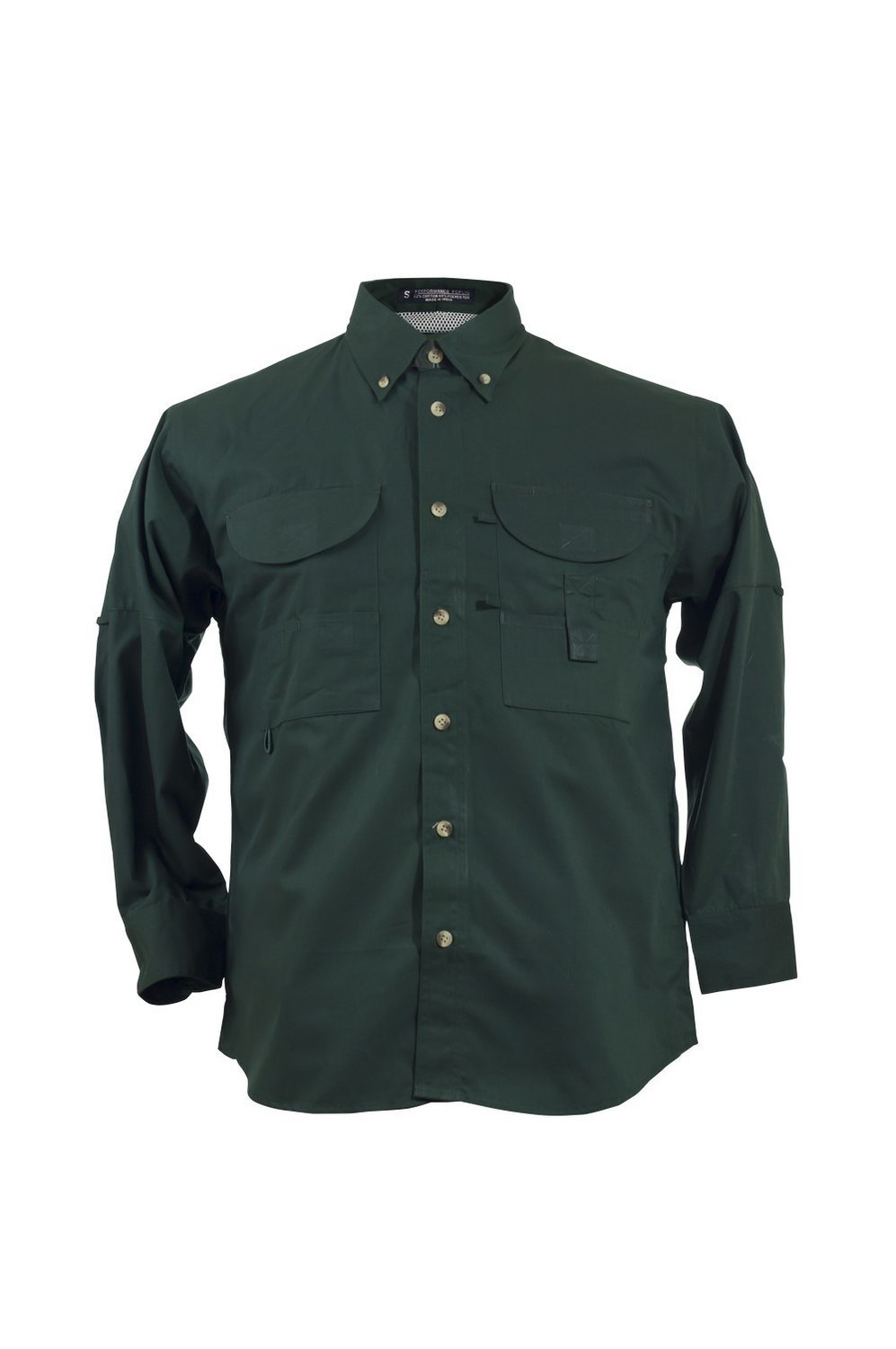 Tiger Hill Men's Fishing Shirt Long Sleeves Forest Green