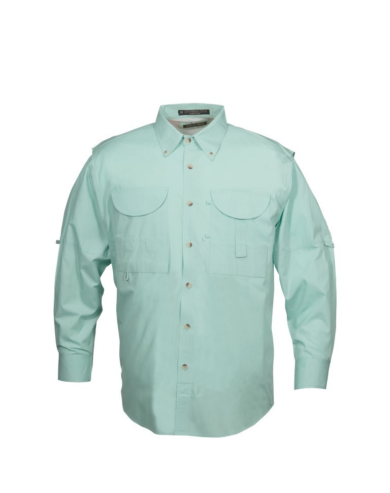 Tiger Hill Men's Fishing Shirt Long Sleeves Seafoam Mint