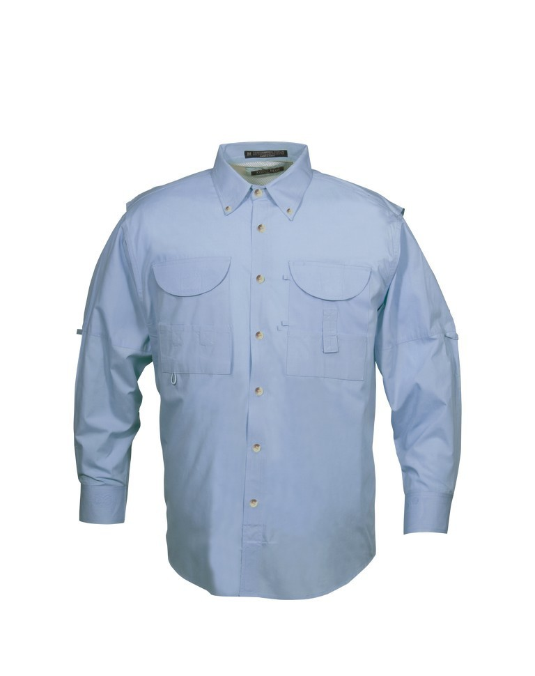 Tiger Hill Men's Fishing Shirt Long Sleeves Sky Blue