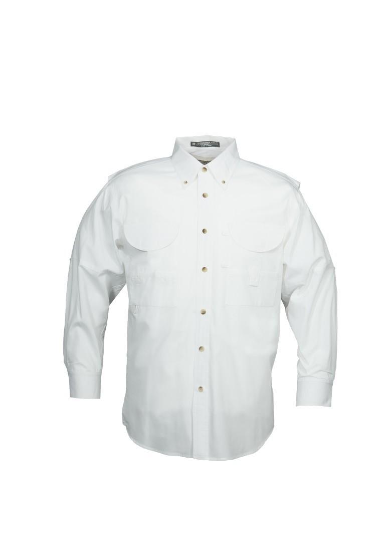 Tiger Hill Men's Fishing Shirt Long Sleeves White