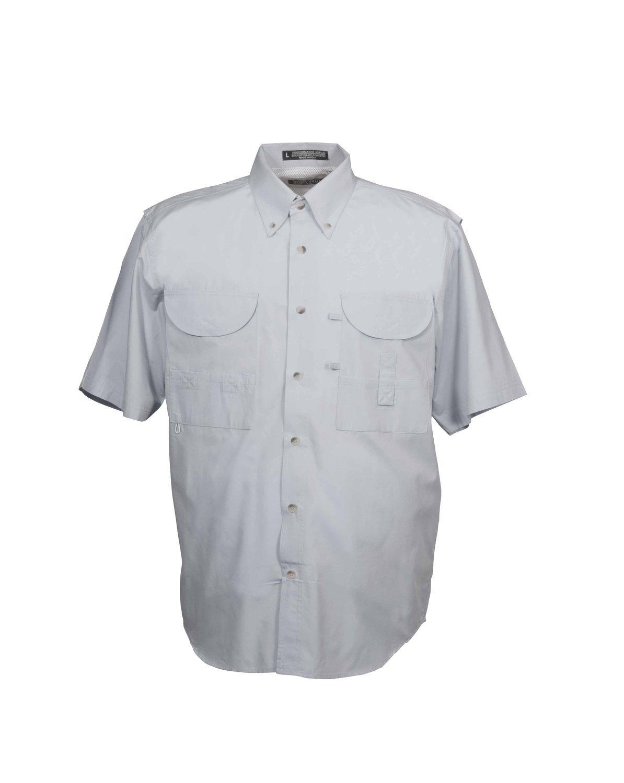 Tiger Hill Men's Fishing Shirt Short Sleeves Artic Grey