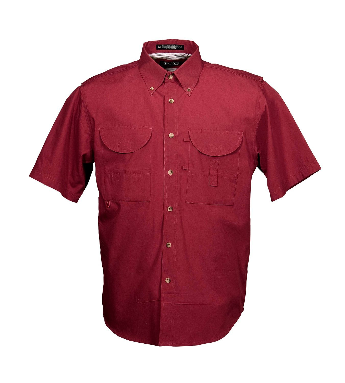 Tiger Hill Men's Fishing Shirt Short Sleeves Red