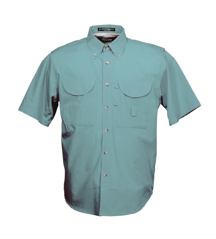 Tiger Hill Men's Fishing Shirt Short Sleeves Teal