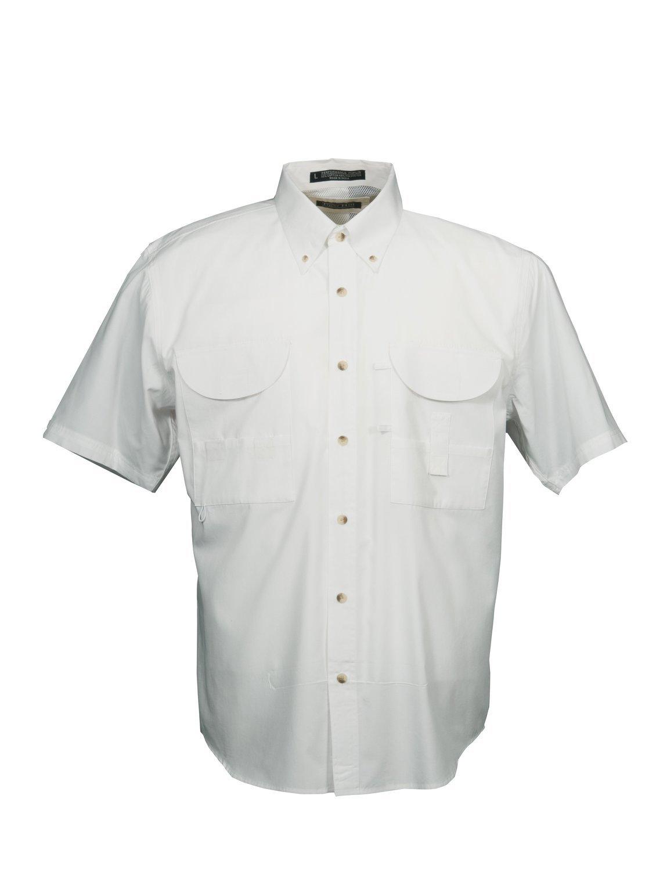 Tiger Hill Men's Fishing Shirt Short Sleeves White