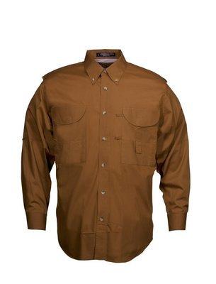 Tiger Hill Men's Fishing Shirt Long Sleeves Burnt Orange
