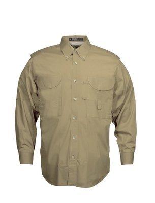 Tiger Hill Men's Fishing Shirt Long Sleeves Khaki