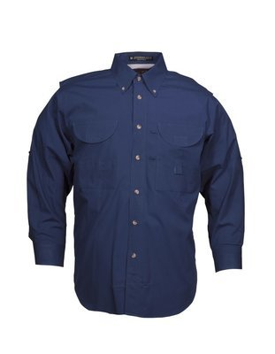 Tiger Hill Men's Fishing Shirt Long Sleeves Steel Blue