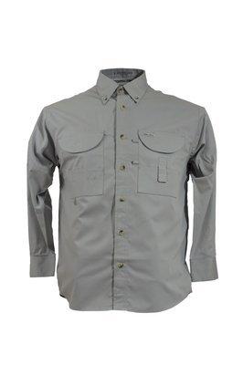 Tiger Hill Men's Fishing Shirt Long Sleeves Arctic Grey