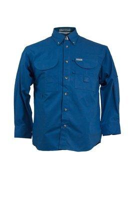 Tiger Hill Men's Fishing Shirt Long Sleeves Royal Blue