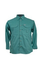 Tiger Hill Men's Fishing Shirt Long Sleeves Teal