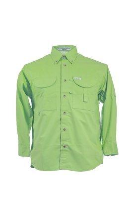 Tiger Hill Men's Fishing Shirt Long Sleeves Lime Green
