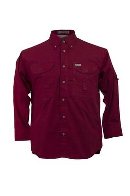 Tiger Hill Men's Fishing Shirt Long Sleeves Red