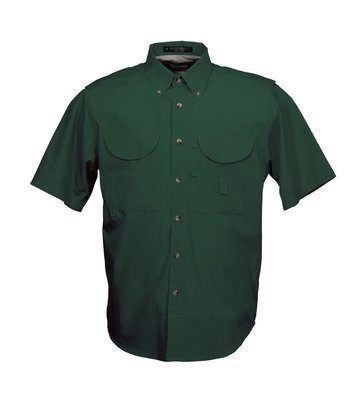 Tiger Hill Men's Fishing Shirt Short Sleeves Forest Green