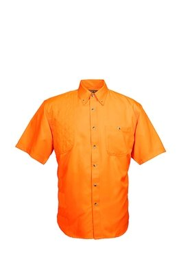 Tiger Hill Men's Fishing Shirt Short Sleeves Tennessee Orange