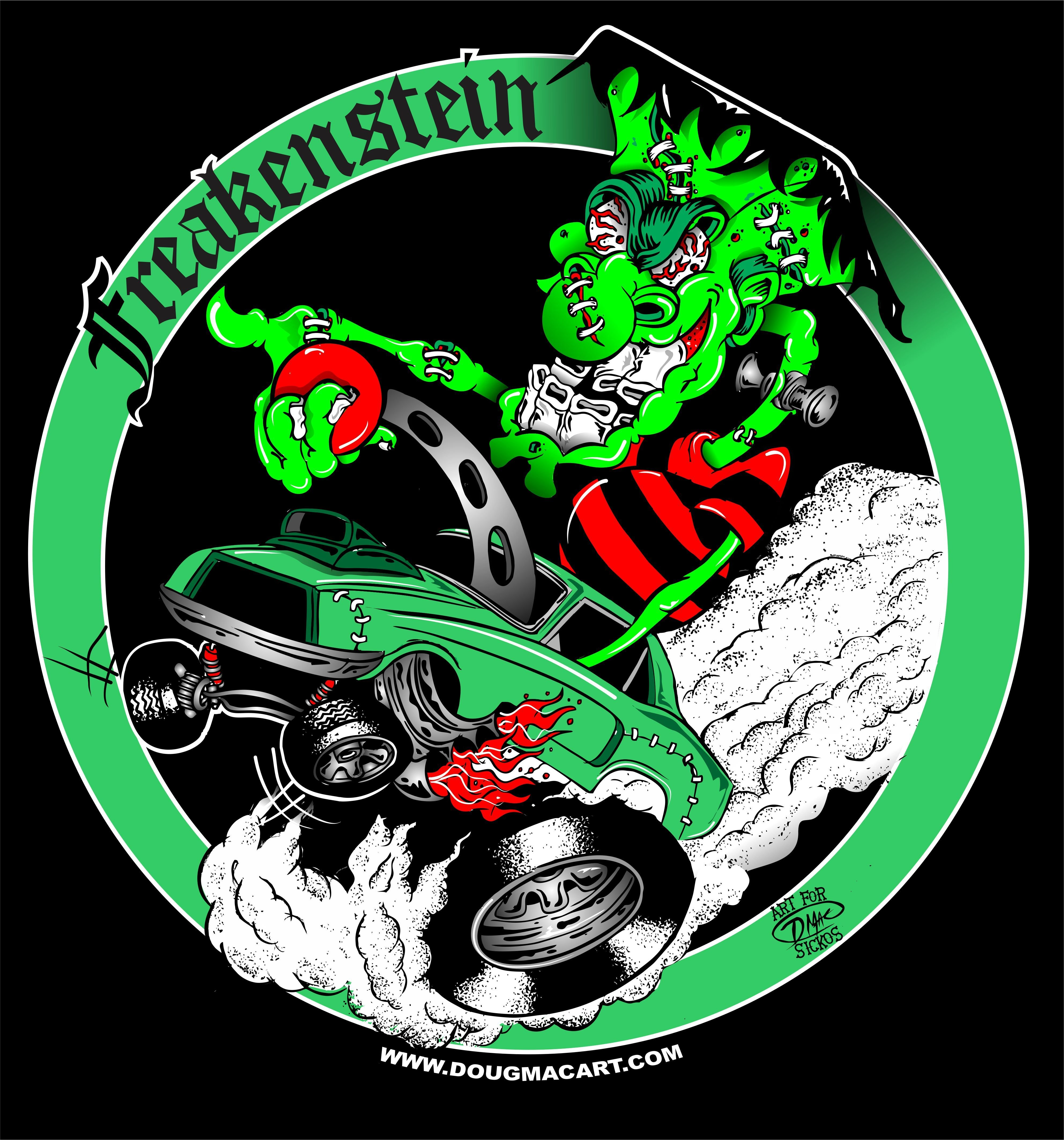 Freakenstein Mustang T-SHIRT $25 Includes Shipping 00027
