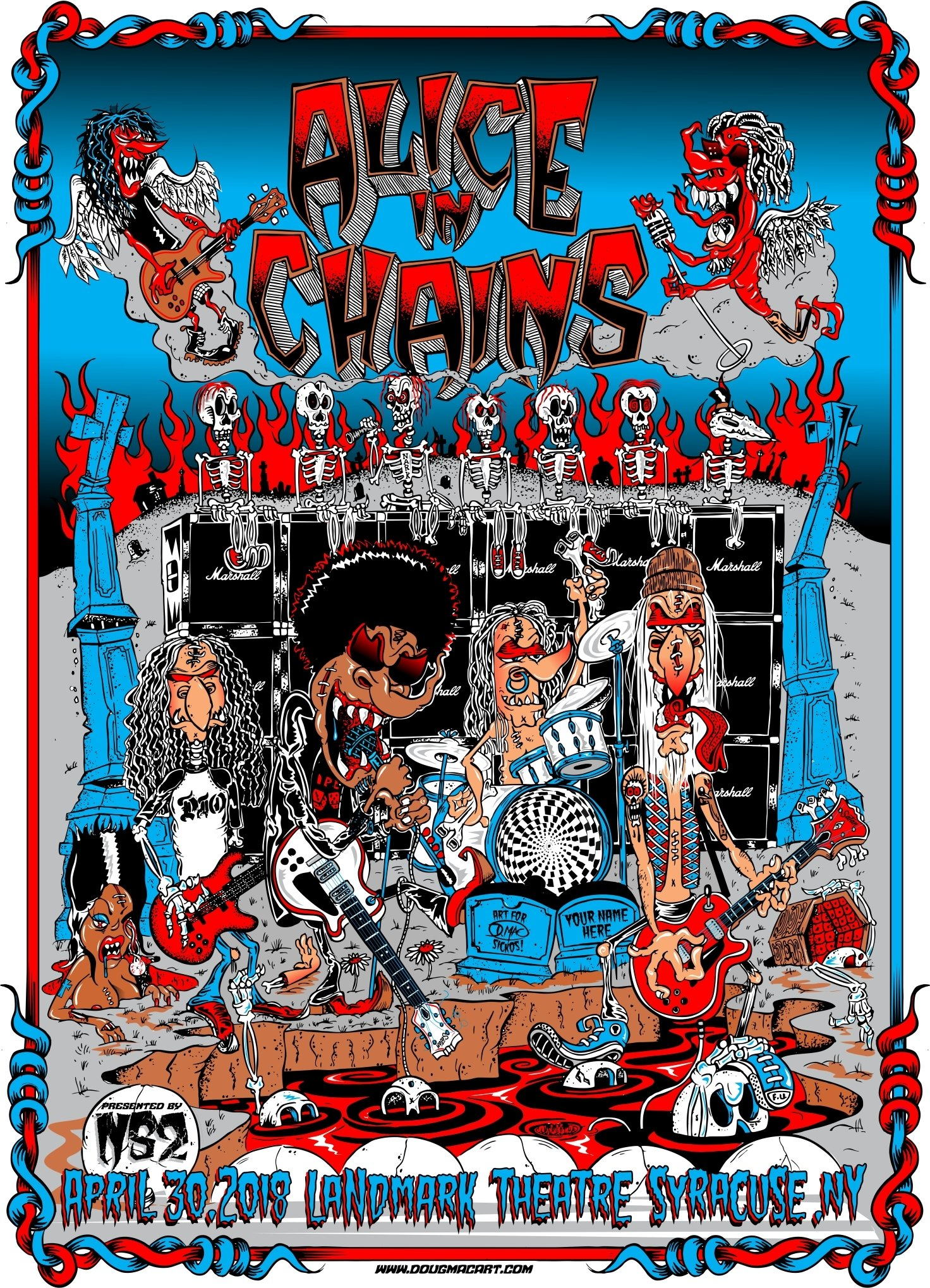 Alice In Chains Commemritive Poster Only 30 Printed For Band Members And Management.I Have 30 I am able to sell all signed And Numbered 14.5x20.5 ONLY 25 left 00045
