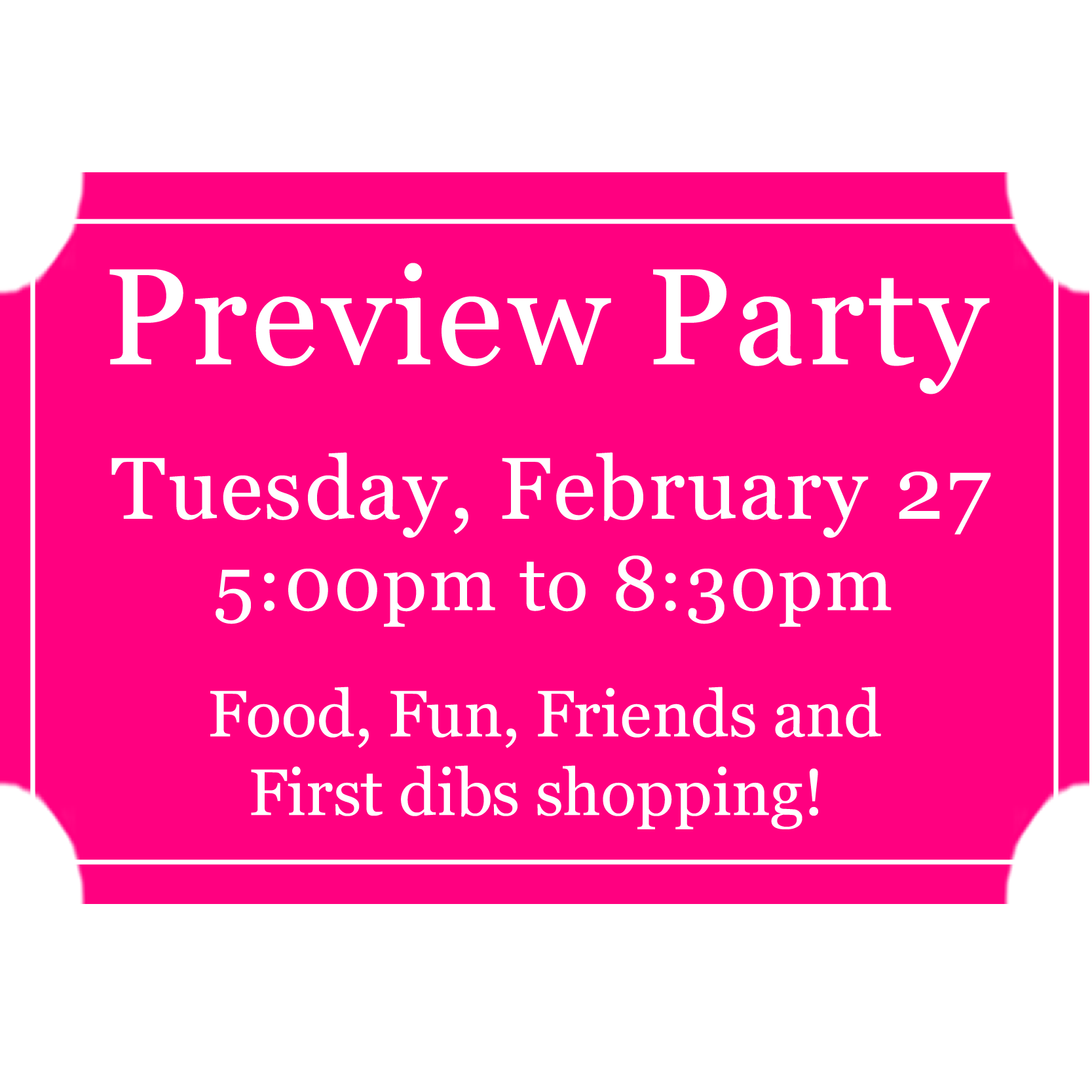 Preview Party Advance Purchase Ticket 0001