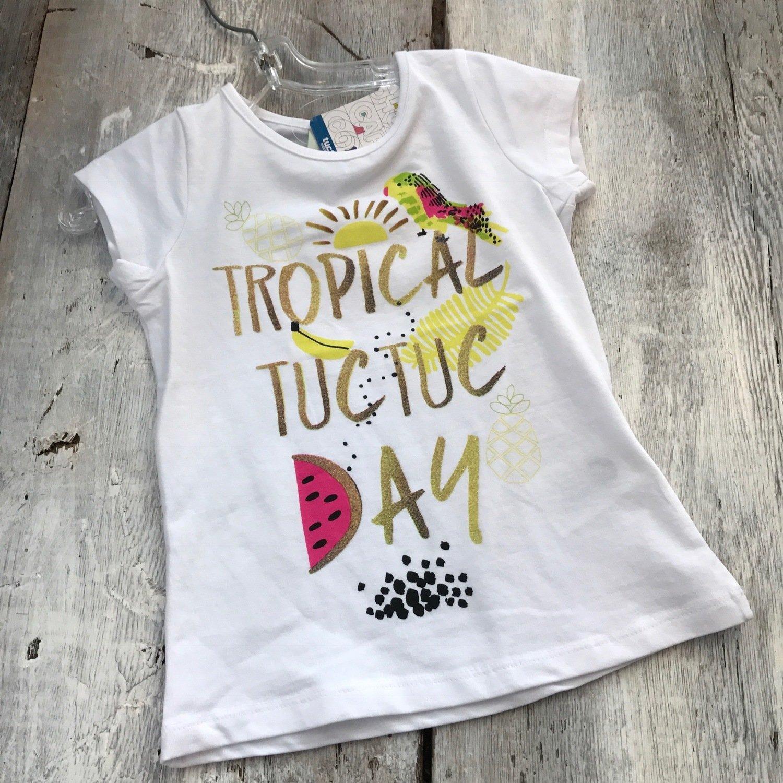T-shirt Blanc Tropical Tuc Tuc